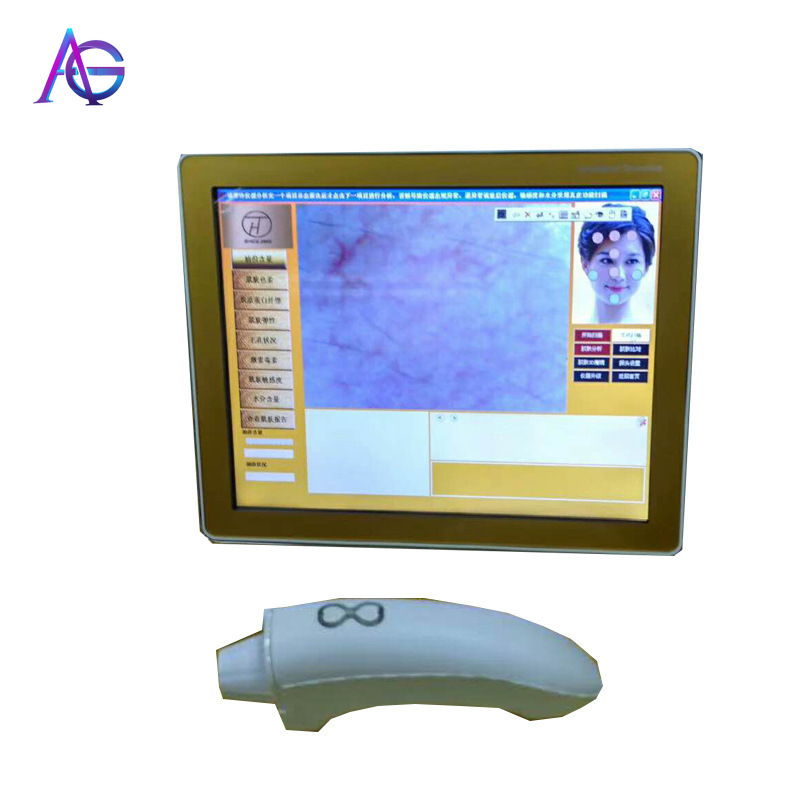 Portable Skin Test Machine For Facial Detect With Touch Screen Easily Operate For Home And Beauty Salon Use