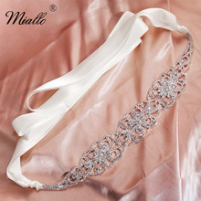 Miallo 2019 Fashion Rose Gold Flowers Austrian Crystal Wedding Belts & Sashes Bridal Women Sash for Dress Jewelry Accessories