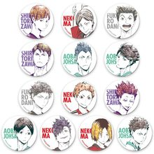 13pcs/set Anime High Kyuu!! Enamel Pin Volleyball Boy Cosplay Badge Cartoon Bags Badge Button Brooch for Boys Girls(China)