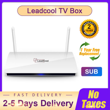 SUB Leadcool TV Android 9.0 Smart TV box S905W 1G+8G/2G+16G SUB 4K can connect 3 device Android Set top box ship from France