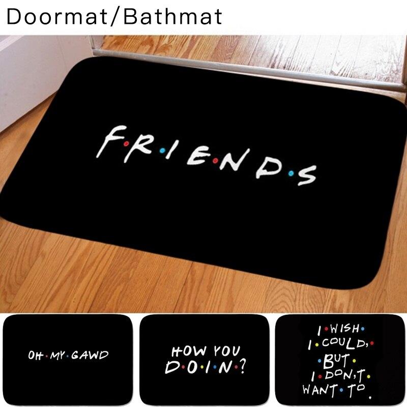 Классические друзья ТВ шоу забавные цитаты коврик с рисунком детская спальня ковер для двери в спальню, на кухню декоративный не скользящий дверной коврик|Коврик|   | АлиЭкспресс