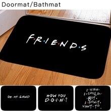 Классический Забавный коврик с цитатами для сериала Friends, коврик с рисунком для детской спальни, декоративный нескользящий дверной коврик д...