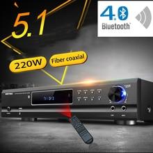 KYYSLB AV 985 650 Вт 220 В 5,1 каналов 4,0 Bluetooth усилитель для домашнего кинотеатра аудио усилитель высокой мощности Ktv караоке с USB