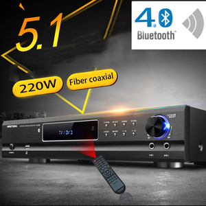Image 1 - KYYSLB AV 985 650W 220V 5.1 Channel 4.0 Bluetooth Amplifier Home Theater Audio High Power Fever Ktv Amplifier Karaoke with USB