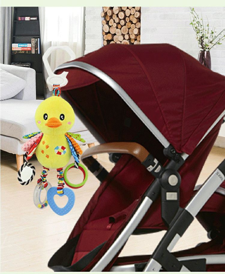Baby Rattles Toys Stroller Hanging Soft Toy Cute Animal Doll Baby Crib Bed Hanging Bells Toys Elephant Rabbit Lion