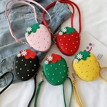 Kids Wallet Crossbody-Bags Baby-Accessories Strawberry Fruit-Coin Purse Kawaii Girls