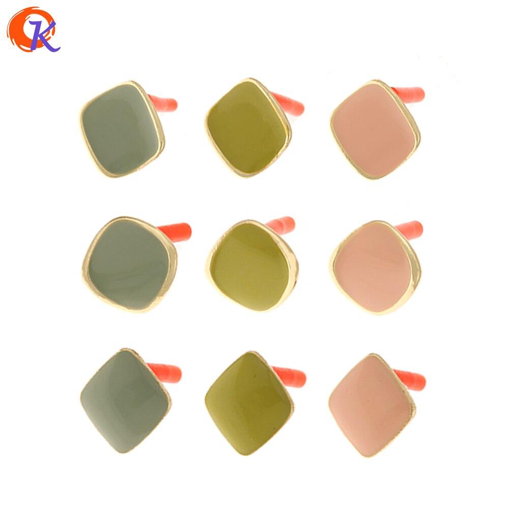 Cordial Design 100Pcs Jewelry Accessories/Earrings Stud/Geometry Shape/Paint Effect/Hand Made/DIY Making/Earring Findings