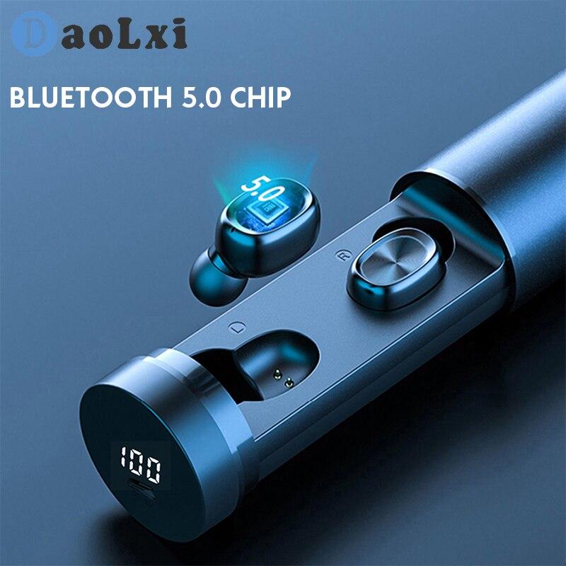 Casque Bluetooth mat casque sans fil 5.0 écouteurs tactiles véritable stéréo suppression du bruit casque Bluetooth écouteurs de sport