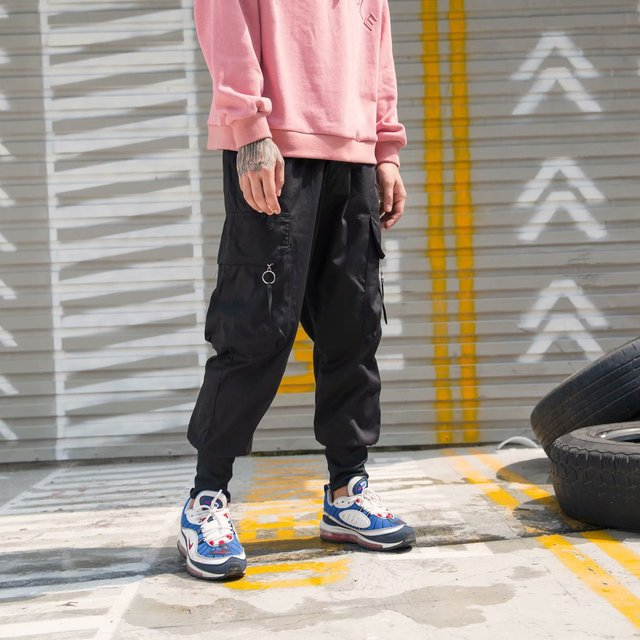 Harem Pants Men's Thin Autumn New Products Korean-style Hip Hop Casual Pants Men's Loose-Fit Hong Kong Style Capri Pants Men's S 2