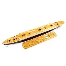 Plataforma de madeira para a academia 14215 1/400 escala rms titanic cy350044 diy modelo