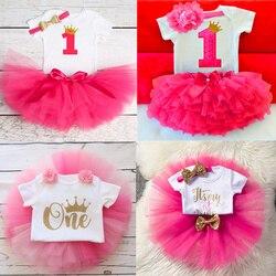 Зимнее платье для новорожденных девочек 1 год платье на 1-й день рождения для новорожденных мой первый Рождественский подарок платье для кре...