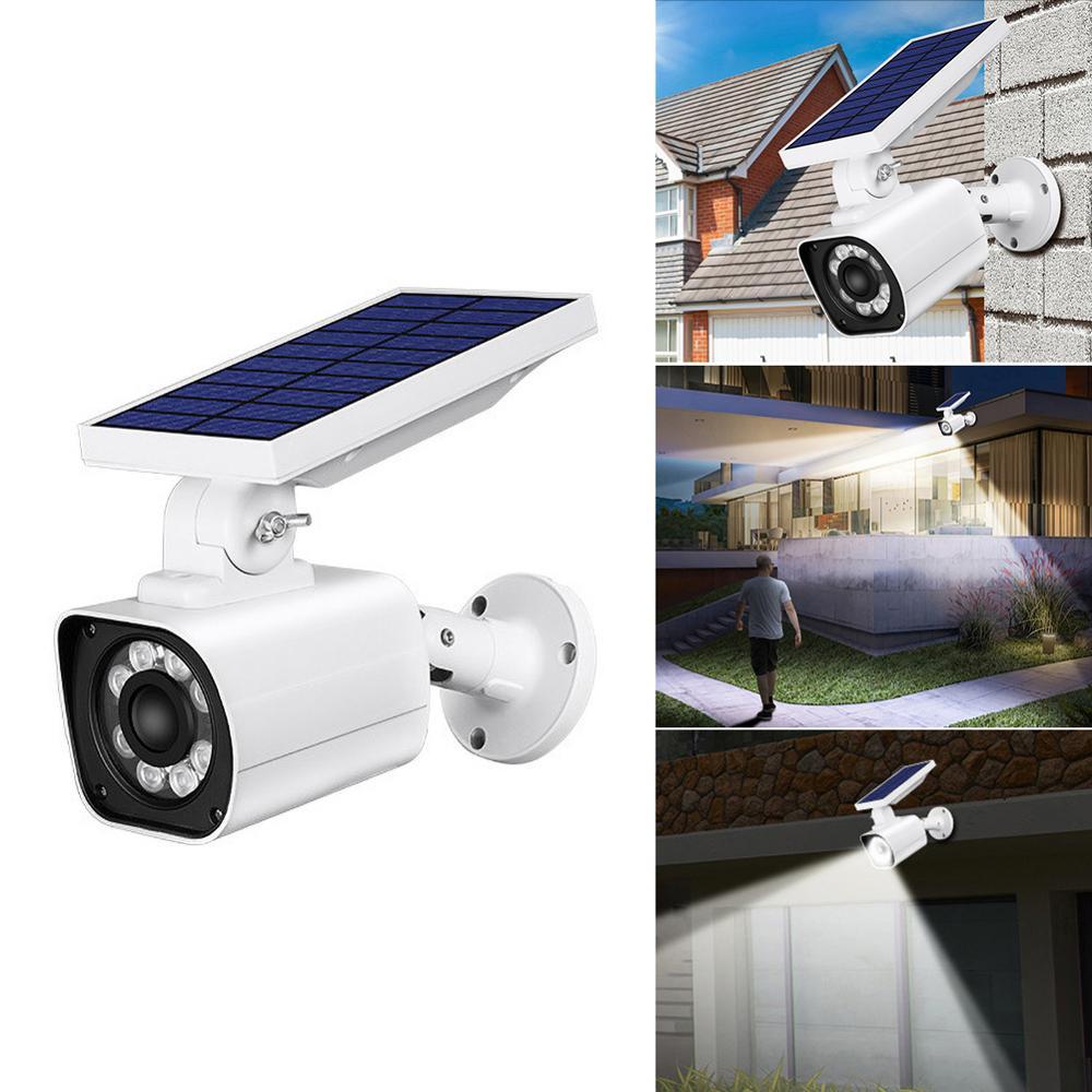Wireless Remote Control IP65 Outdoor Solar Battery Power Low Power Consumption PIR Surveillance Security Camera Spotlight