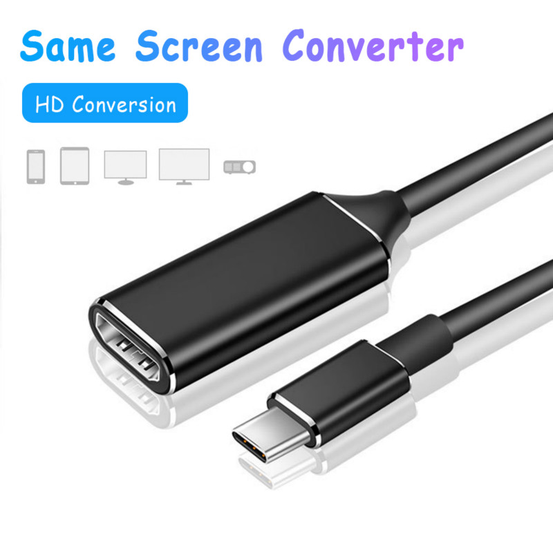 USB Type C To HDMI HDTV Cable New Stable Typec Adapter Universal Optimal Copper Core HDMI 4K Cable For Smart Phone PC Laptop