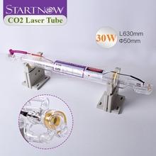 Startnow CO2 лазерная трубка 30 Вт 630 мм модернизированная 40 Вт диаметр лампы 50 мм Стеклянная трубка двойная упаковка для CO2 Лазерная гравировальна...
