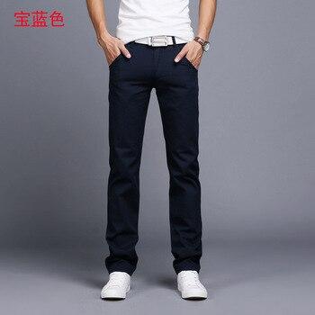 Men pants New Design Casual hombres pantalones Cotton Slim Pant Straight Trousers Fashion Business Pants Men Plus Size 28-38