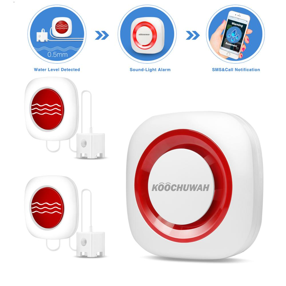 Water Sensor Wireless Water Alarm Leakage Detector GSM SMS Alarm High Sensitive Sensor Aqua Promotion Battery Power Support Auto
