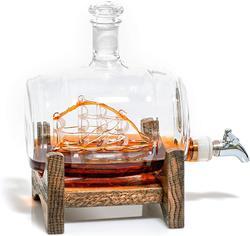 1000 مللي الإبداعية بحري برميل شكل الدورق النبيذ الأحمر كوب ويسكي زجاجة إناء نبيذ لشريط المطبخ حفلة هدية الكريسماس