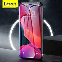 Baseus 2 pçs 0.3mm protetor de tela para iphone 11 pro max xs max xr x 11pro capa completa protetora vidro temperado para iphone11 pro