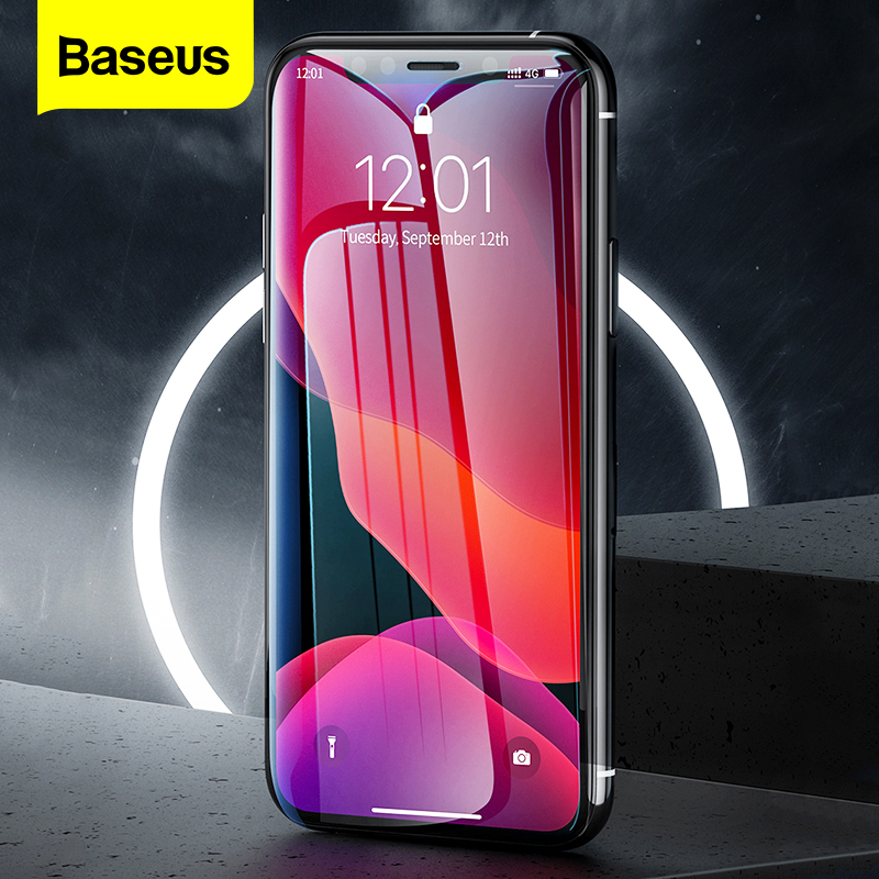 Baseus 2Pcs 0.3mm Screen Protector For IPhone 11 Pro Max Xs Max Xr X 11Pro Full Cover Protective Tempered Glass For IPhone11 Pro