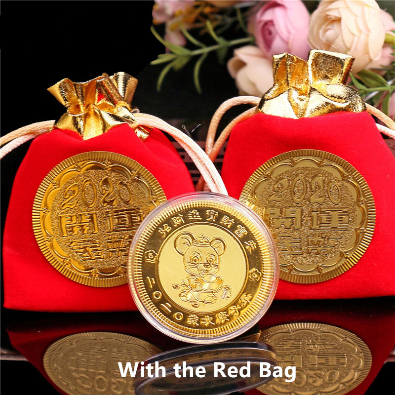 Year of the Rat Commemorative Coin Chinese Souvenir Challenge CoiODUSYYY