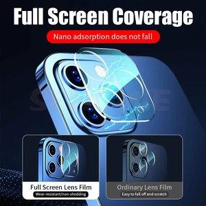 Image 5 - 9000D 전체 커버 카메라 렌즈 보호 유리 아이폰 12 11 프로 최대 강화 유리 아이폰 X XS XR XS 최대 후면 렌즈 유리