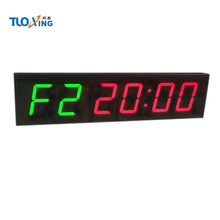 4 ''большой светодиодный настенные часы вод для фитнеса, кроссфита программируемый интервальный таймер