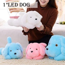 50cm Kawaii Luminous Teddy Dog Plush Doll Toys Colorful LED Glowing Puppy Dog Stuffed Toys Children Kids Birthday Gift 35cm luminous dog plush doll colorful led light glowing dogs kids toy children girls gift kawaii stuffed animal toy