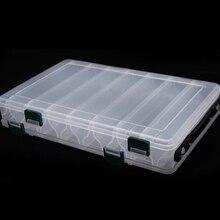 14 Контейнер для рыболовных приманок коробка двухсторонняя коробка для рыбной ловли, Рыбная ловля Соблазнительные аксессуары коробка Minnows Bait контейнер для снастей