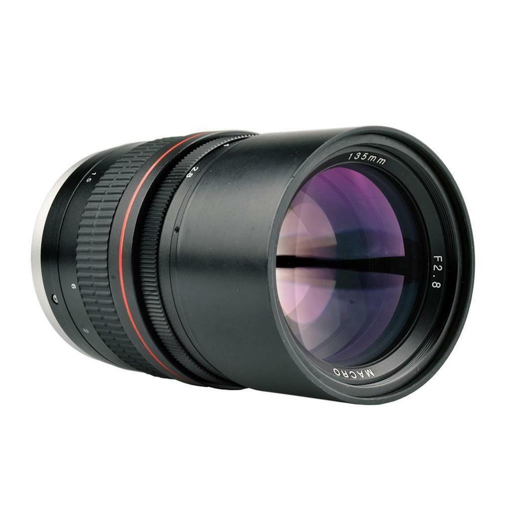 Телеобъектив jintu 135 мм f/28 для камер canon eos ef dslr