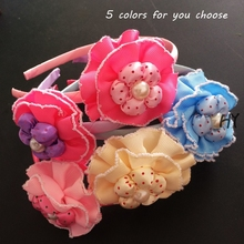 1 Pcs/lot New Hairband Flower Colorful Fashion Headband Girls Kids Cute Hair Accessories