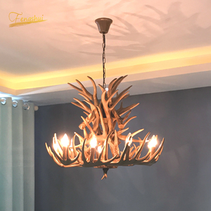 Image 1 - Nordic LED Chandelier E14 Pendant Lamp Lighting Hanglamp Industrial Buck Deer Horn Antler Bedroom Living Room Kitchen Fixtures