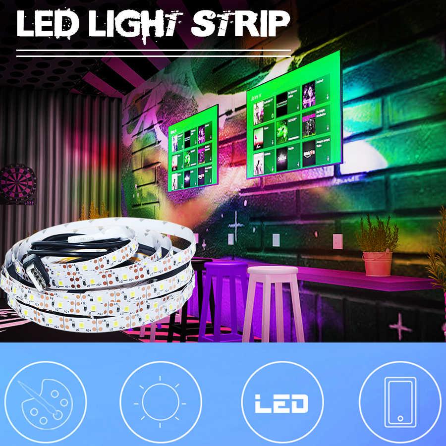 5 В USB Светодиодная лента светильник водонепроницаемый кухонный шкаф светильник теплый белый/RGB Светодиодная лента 2835 ТВ задний светильник ing Декор Светильник s