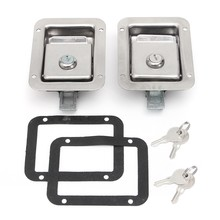 2 Set Trailer Truk Toolbox Kunci Pintu Stainless Steel Handle Pintu Kunci T-Panel Lock Handle Pintu Latch(China)