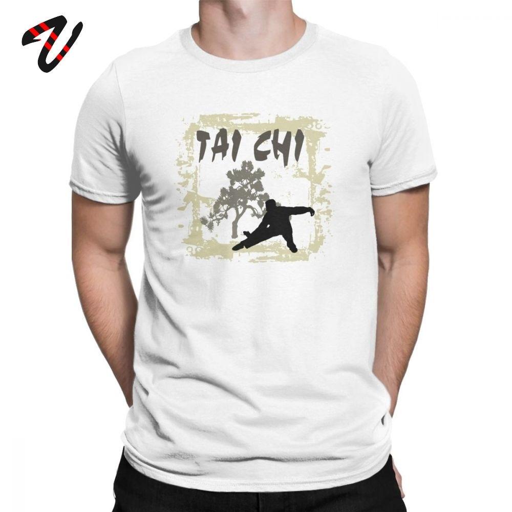 Faddsh Мужская футболка Tai Chi Chuan Китайский кунг фу футболка Премиум хлопковая одежда смешной короткий рукав футболки с округлым вырезом Футболка с принтом