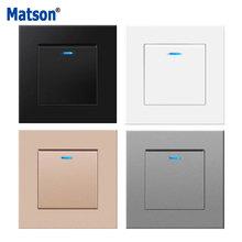 Matson Wall Switch, Power Light Switch,EU/UK Standard, Plastic Flame Retardant Panel,Rocker Switch1/2/3Gang1Way, AC110-250V 16A