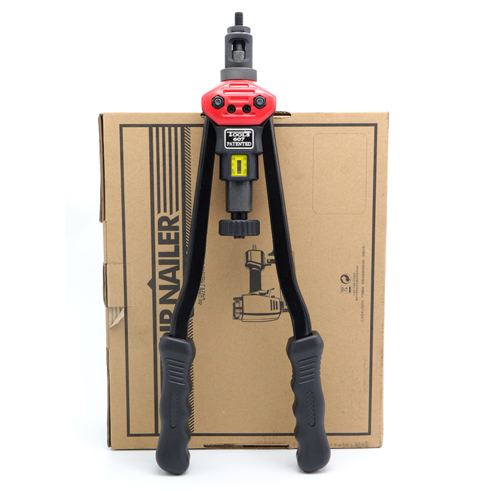 16'' B-607 Rivet Nut Gun M3 M4 M5 M6 M8 M10 M12 Heavy Hand Inser Nut Tool Manual Riveter Gun Manual Mandrels With Box Set