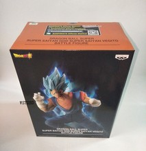 Original BANPRESTO Dragon Ball Z Vegetto Battle Action Figure Toys Figurals Brinquedos Overseas Version(China)