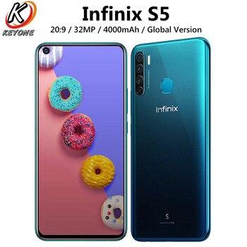 Перейти на Алиэкспресс и купить Глобальная версия Infinix S5 X652A Dual SIM 4G LTE мобильный телефон 6,6 дюймов 6 ГБ ОЗУ 128 Гб ПЗУ Восьмиядерный 32 МП 4000 мАч Android смартфон