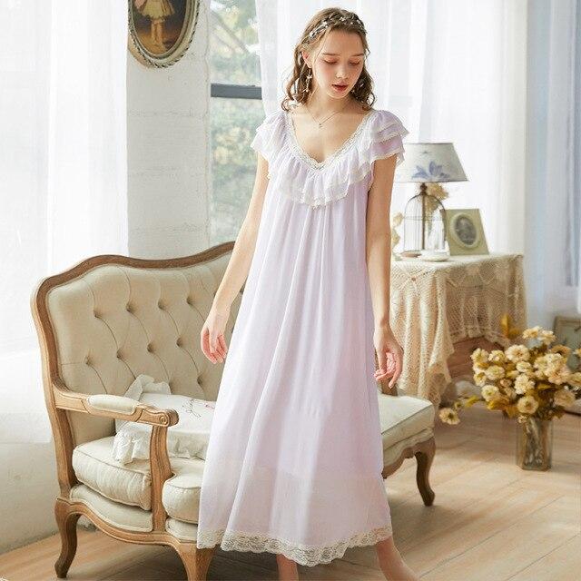 Roseheart נשים Pruple שחור סקסי הלבשת לילה שמלת Homewear תחרה נסיכת Nightwear יוקרה כתונת לילה נשי שמלה