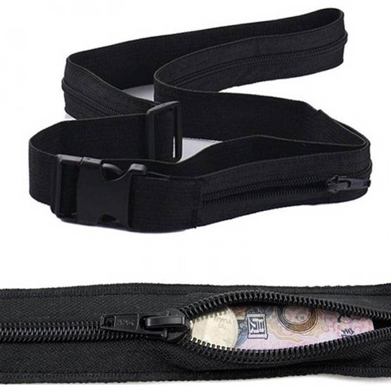 2020 New Travel Hidden Cash Money Belt Bag Funny Pack Anti Theft Waist Packs Pouch Wallet Fanny Bag Casual Nylon Women Men Belt