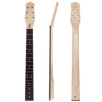 Kmise Electric Guitar Neck Maple from Canada 22 Frets HPL Fretboard Bolt On Guitar Parts&Accessories for Guitar DIY Project free shipping new ttm quilted top devastator guitar yellow guitars maple fretboard cc deville signature super shop customized