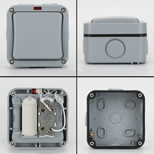 IP65 Switch Windproof Waterproof Single And Double Channel Waterproof Switch For Kitchen, Bathroom, Swimming Pool Switch