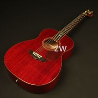 Handmade OM Style Electric Acoustic Guitar Solid Mahogany Top Abalone Inlay Sound Hole Bone Nut&Saddles Fishman 301 Presys Blend