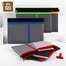 Xiaomi フィズファイルバッグジッパー袋 A4 収納大容量メッシュファイルバッグジッパートートバッグハンドバッグ学生オフィスファイルバッグ