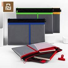Сумка Youpin fizz на молнии, вместительная Сетчатая Сумка для хранения файлов формата А4, сумка тоут на молнии, ручная сумка, Студенческая офисная сумка для файлов