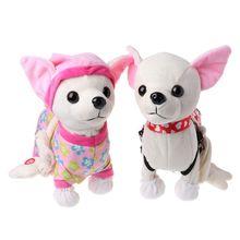 Электронный Питомец робот собака молния прогулки пение интерактивная игрушка с сумкой для детей подарки на день рождения 634F