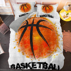 Basketball Bedding Set King size 3D Printed Boys Duvet Cover With Pillowcases Comforter Covers Customize Single Double Size