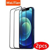 Protector de pantalla de vidrio templado para iPhone, vidrio templado para iPhone 13 12 11 Pro XS 11 12 13 Max, xr xs x 11 12 13, 2 uds.