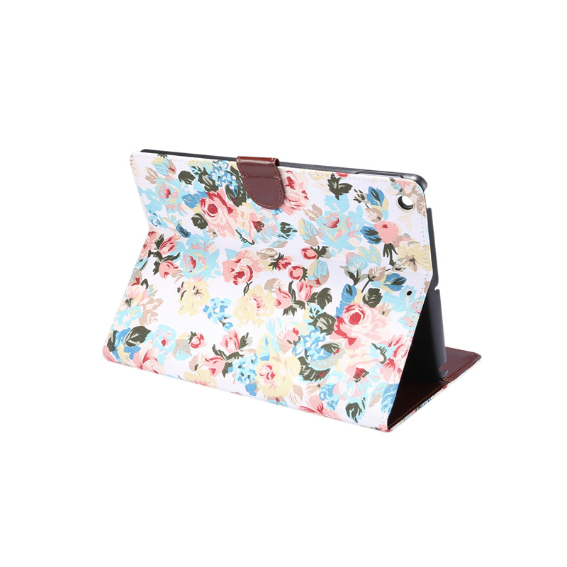 For iPad 10 2 2019 Smart Flowers Painted Case For Apple iPad 7th Generation A2200 A2198