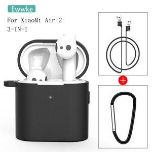 Image 2 - 3 in 1 Silikon Fall Für Xiaomi Airdots 2 2s Wireless Bluetooth Headset Schutzhülle Für Xiaomi Air 2 2s Headset Abdeckung